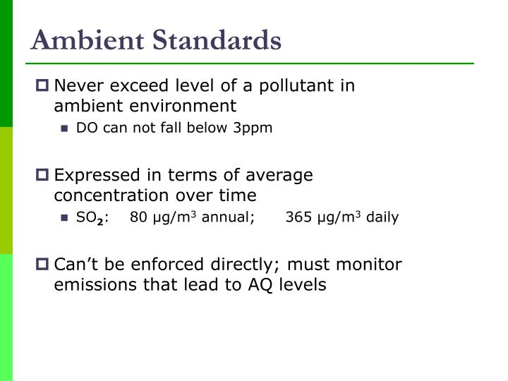 Ambient Standards