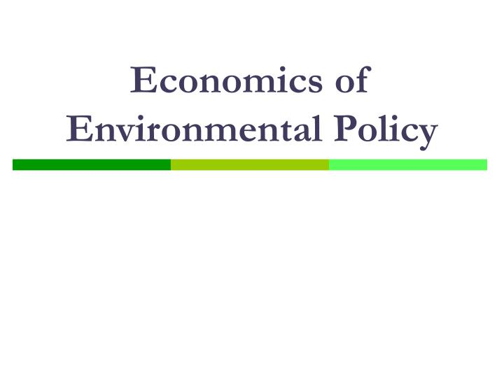 economics of environmental policy n.