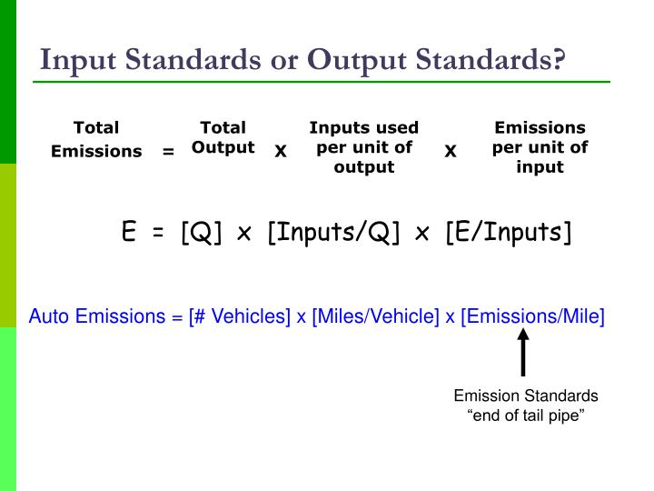 Input Standards or Output Standards?