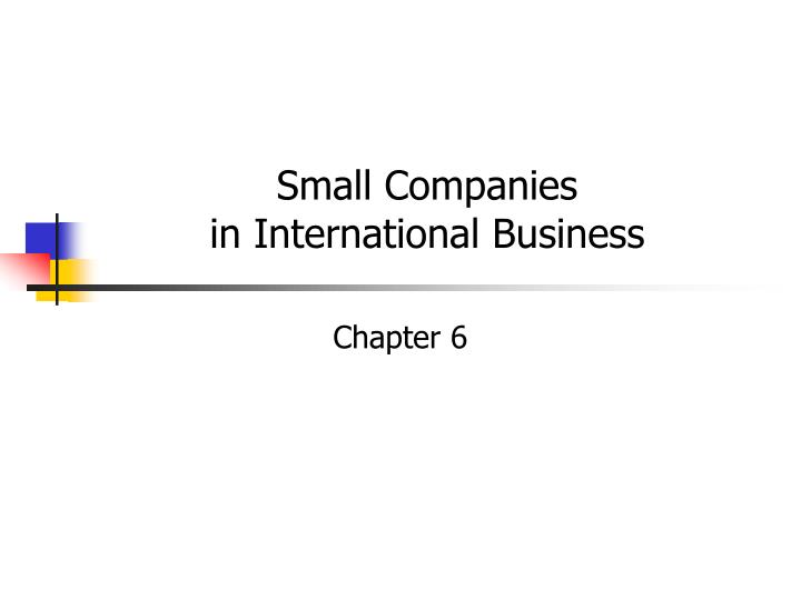 small companies in international business n.