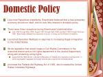 domestic policy23
