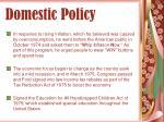 domestic policy41