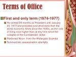 terms of office34