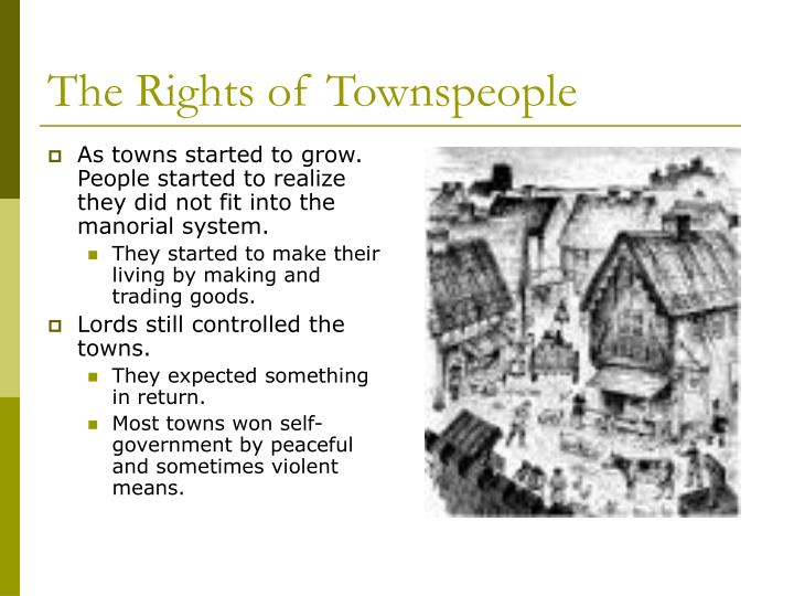 The rights of townspeople