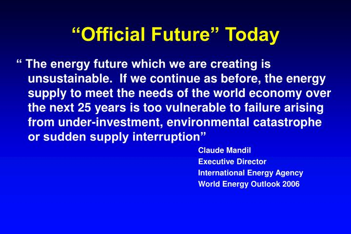 """""""Official Future"""" Today"""
