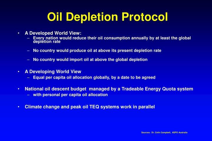 Oil Depletion Protocol