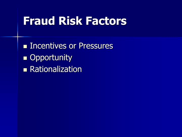 the factors of a good fraud Internal control, as defined in accounting and auditing, is a process for assuring of an organization's objectives in operational effectiveness and efficiency, reliable financial reporting, and compliance with laws, regulations and policies.