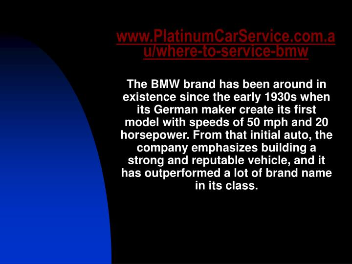 Www platinumcarservice com au where to service bmw3