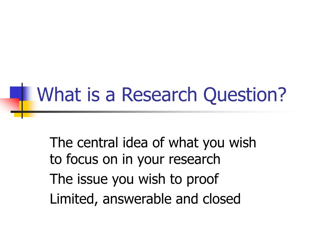 whats a good research question