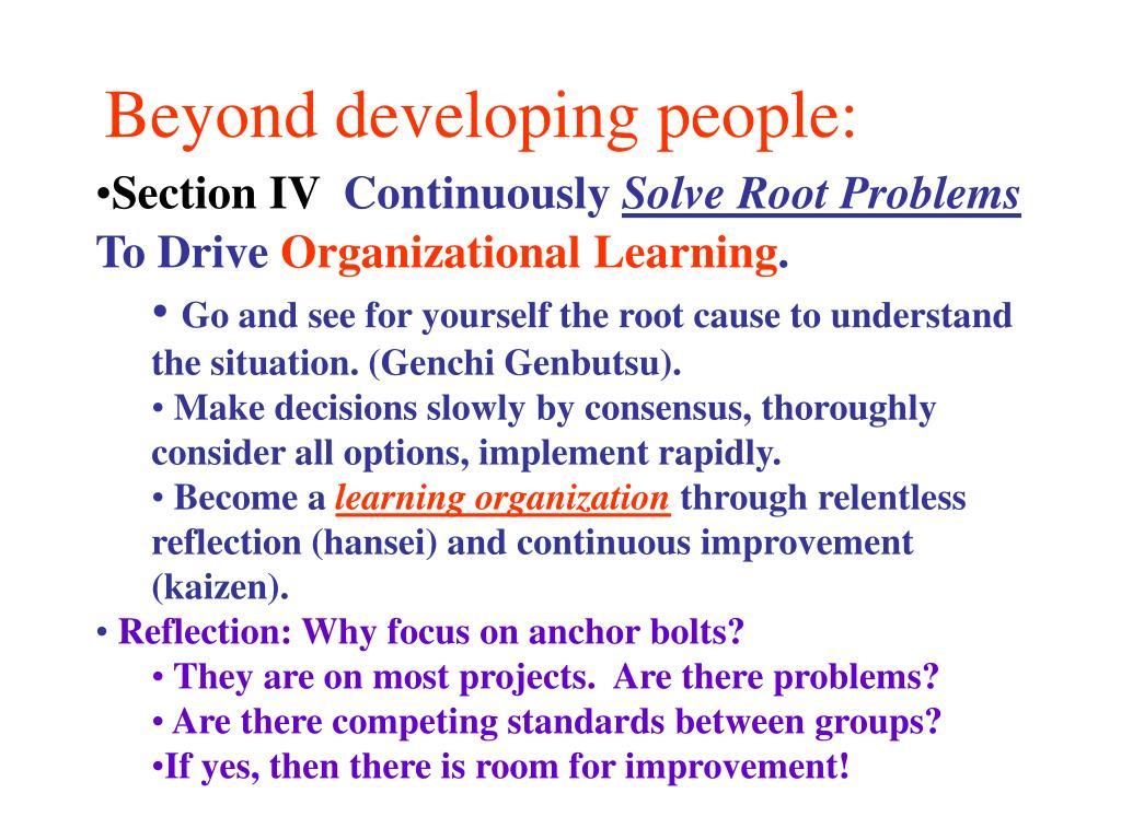 Beyond developing people: