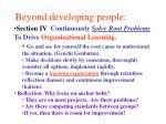 beyond developing people