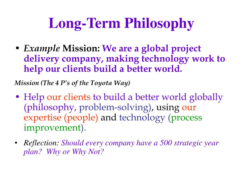 Long-Term Philosophy
