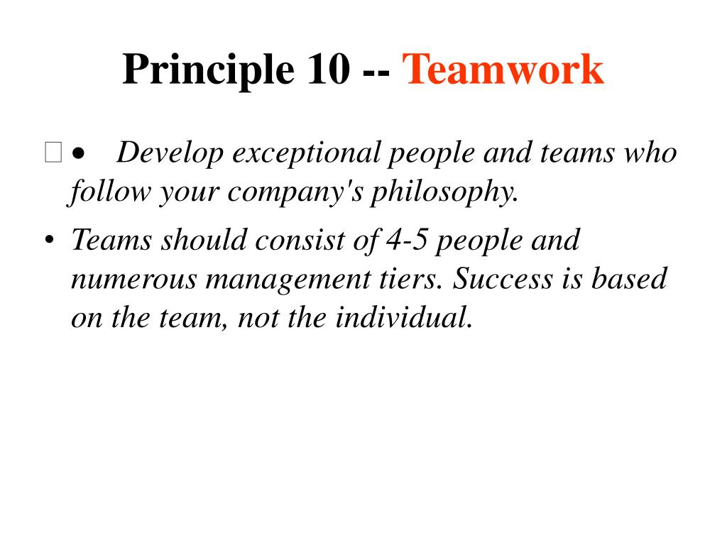 Principle 10 --