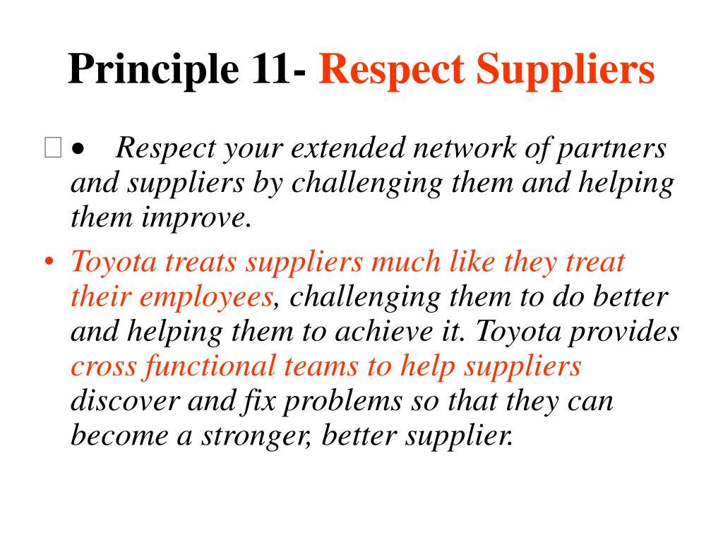 Principle 11-