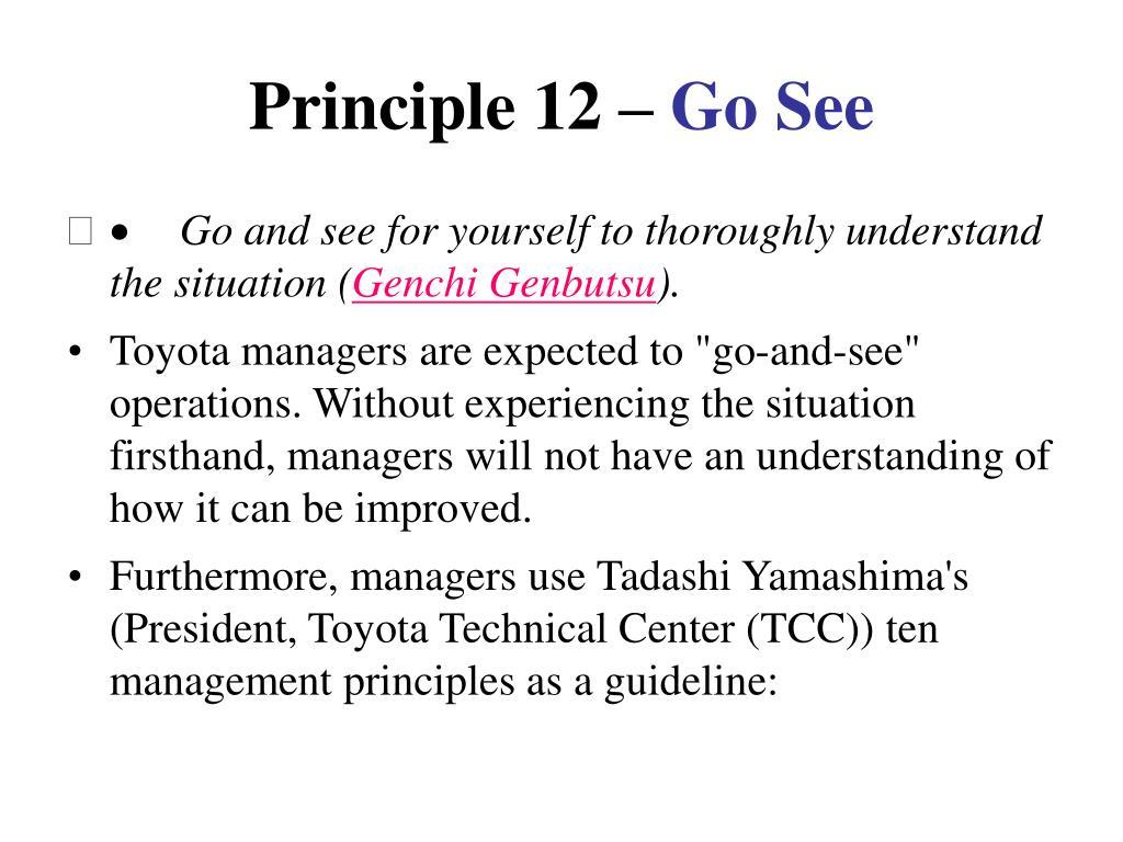 Principle 12 –