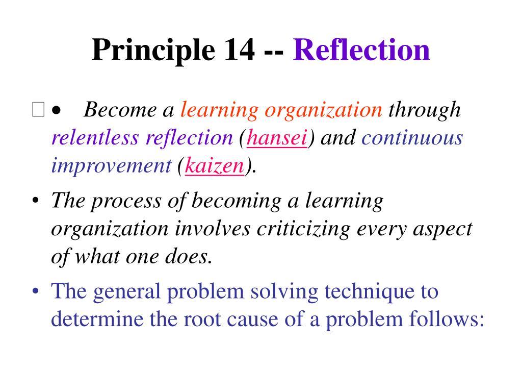 Principle 14 --