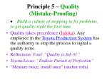 principle 5 quality mistake proofing