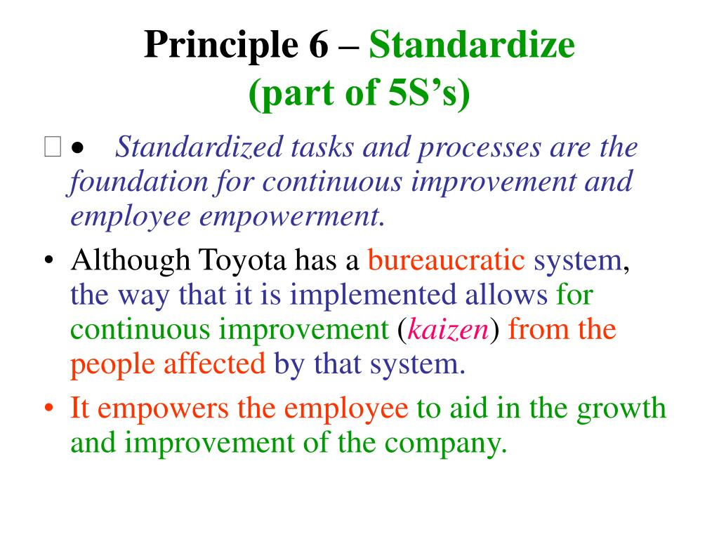 Principle 6 –