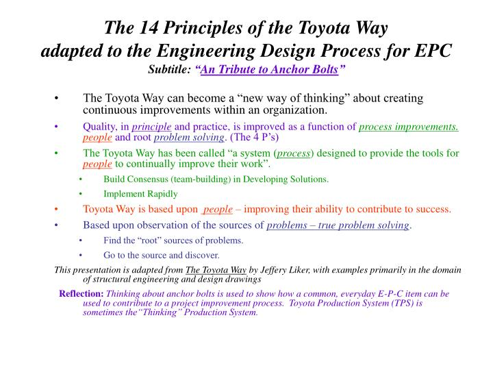 The 14 Principles of the Toyota Way
