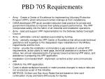 pbd 705 requirements