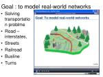 goal to model real world networks