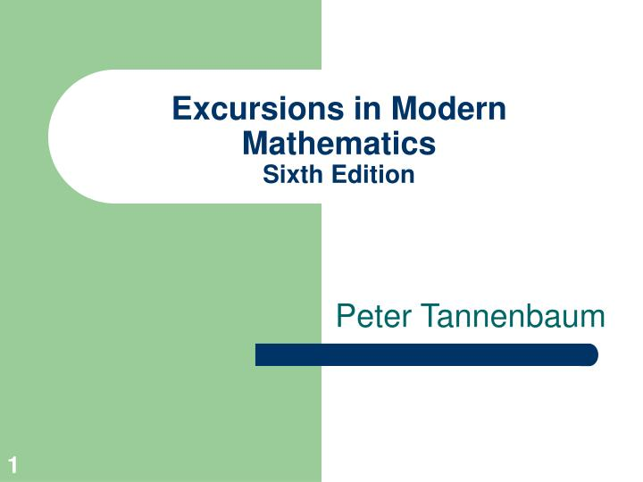 excursions in modern mathematics sixth edition n.