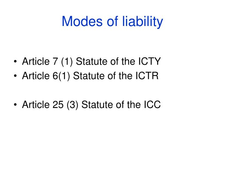 modes of liability n.