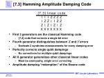 7 3 hamming amplitude damping code