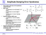 amplitude damping error syndromes
