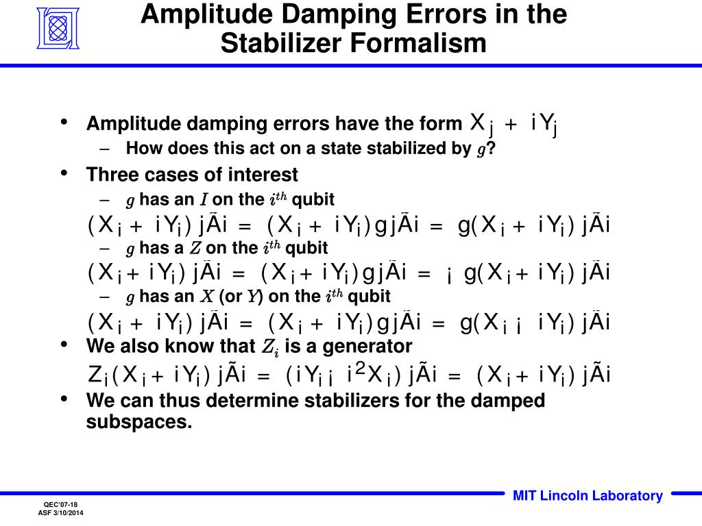 Amplitude Damping Errors in the Stabilizer Formalism