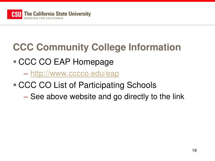 CCC Community College Information