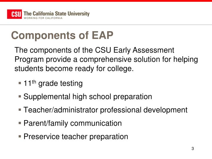 Components of eap