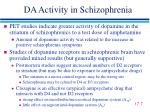 da activity in schizophrenia