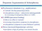 dopamine augmentation schizophrenia