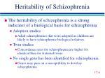 heritability of schizophrenia