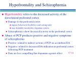 hypofrontality and schizophrenia