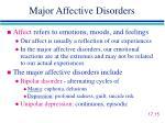 major affective disorders