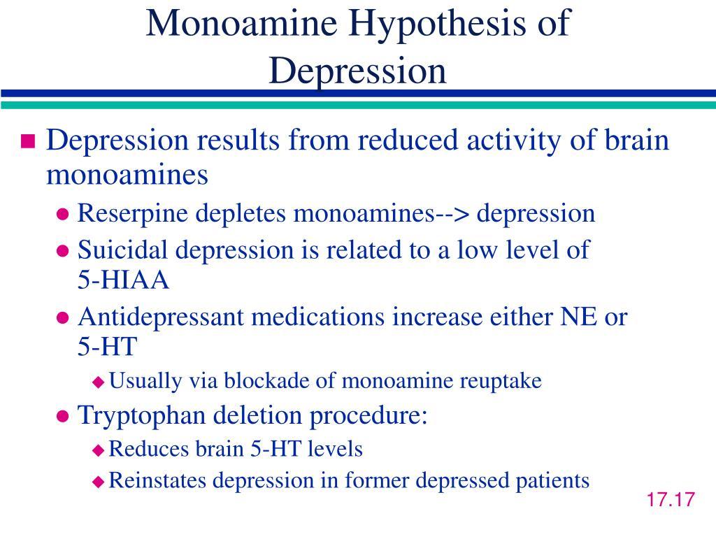 Monoamine Hypothesis of Depression