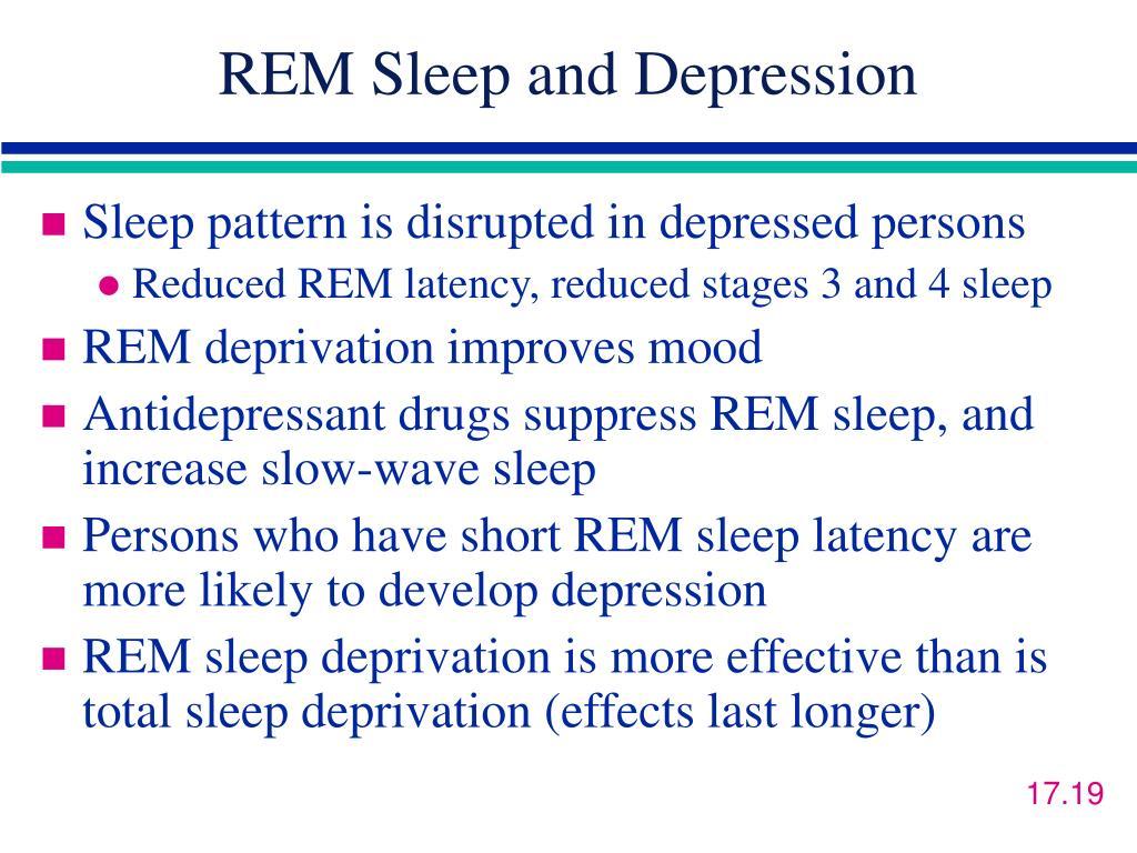 REM Sleep and Depression