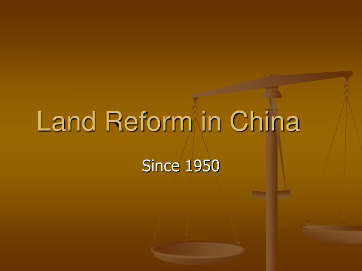 land reform in china n.