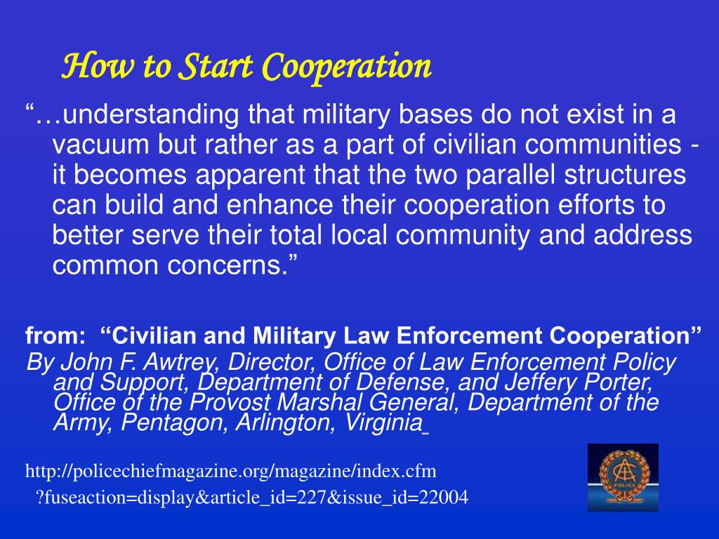 How to Start Cooperation