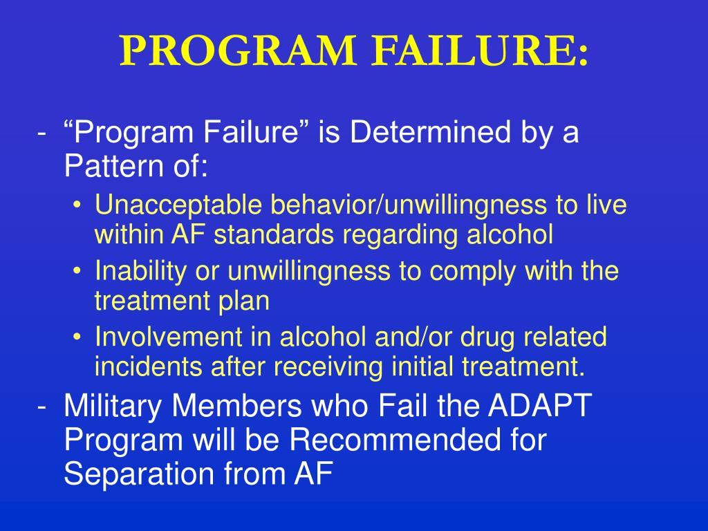 PROGRAM FAILURE: