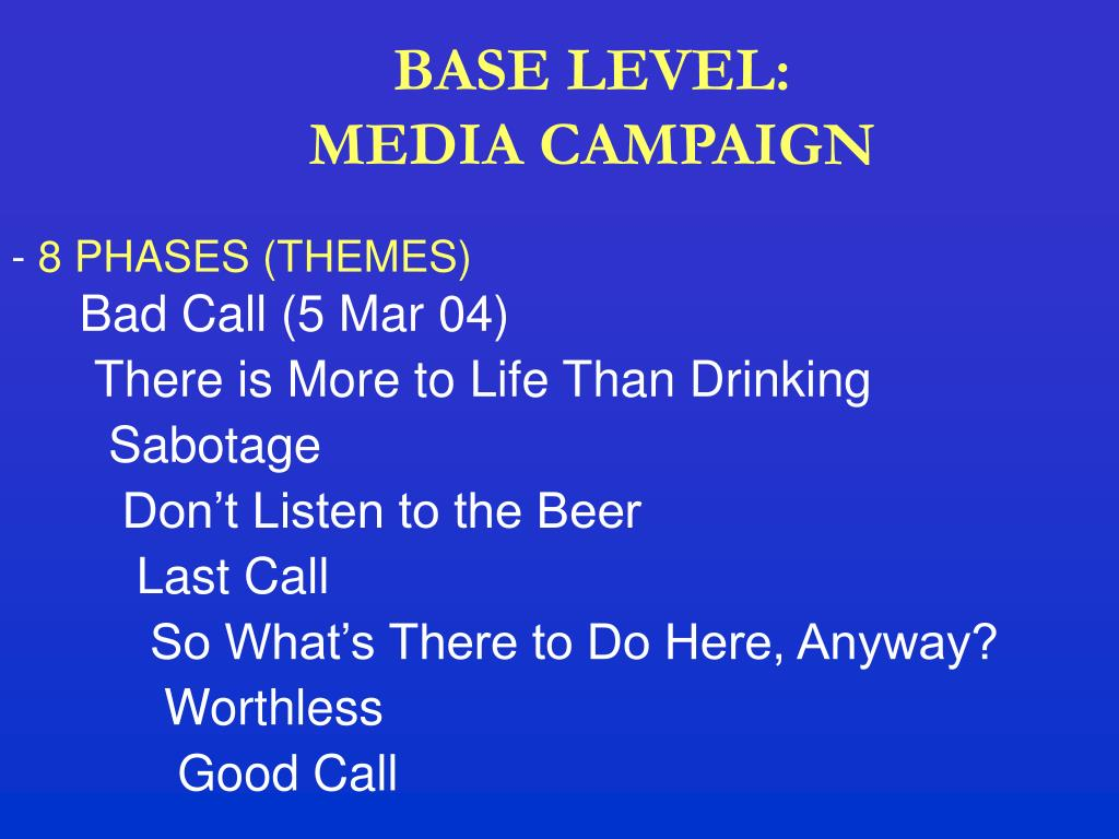 BASE LEVEL: