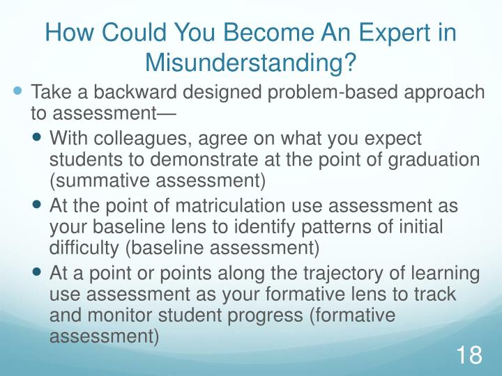 How Could You Become An Expert in Misunderstanding?