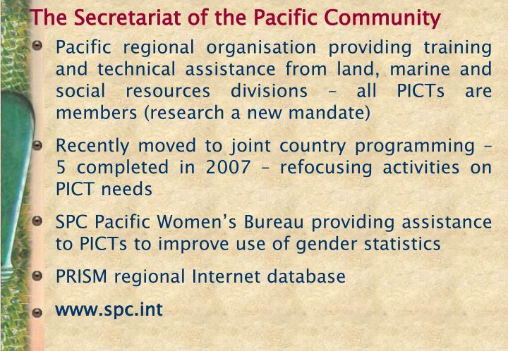The Secretariat of the Pacific Community