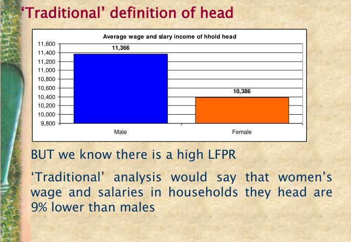 'Traditional' definition of head