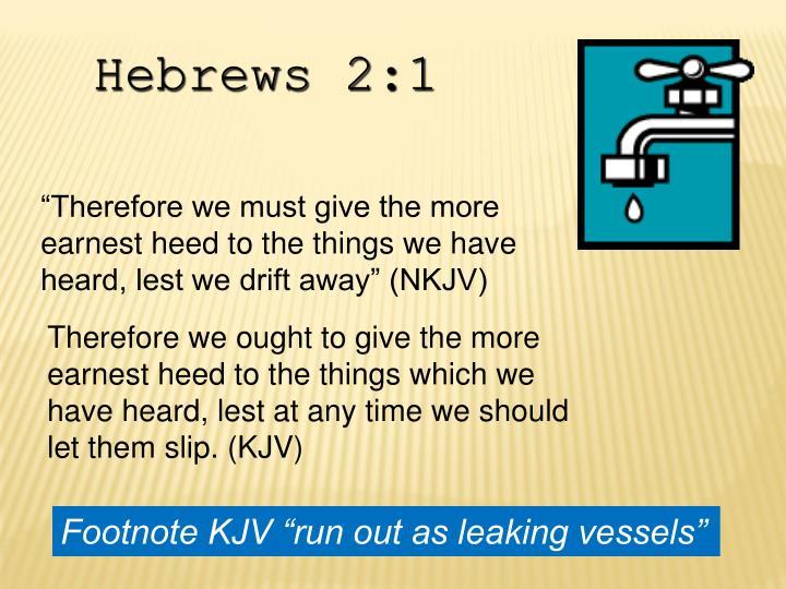 Hebrews 2:1