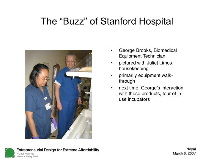 the buzz of stanford hospital n.