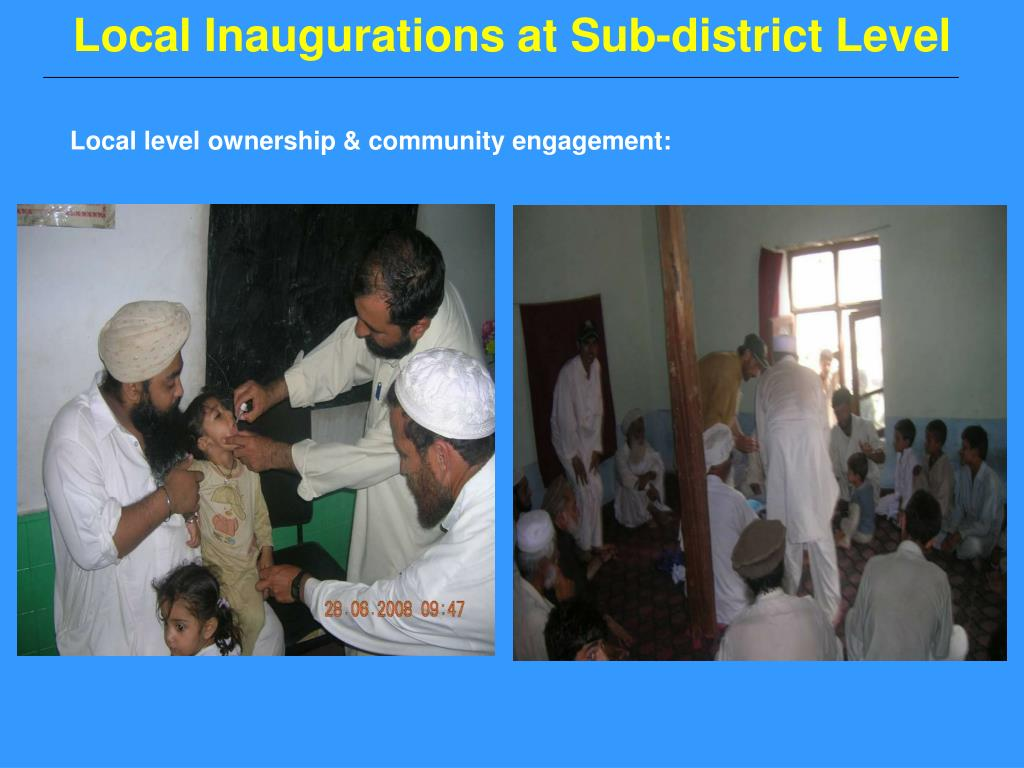 Local Inaugurations at Sub-district Level