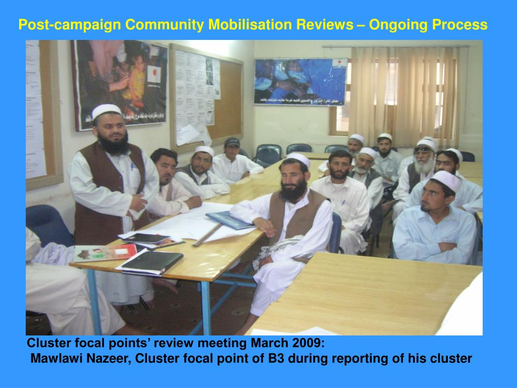 Post-campaign Community Mobilisation Reviews – Ongoing Process